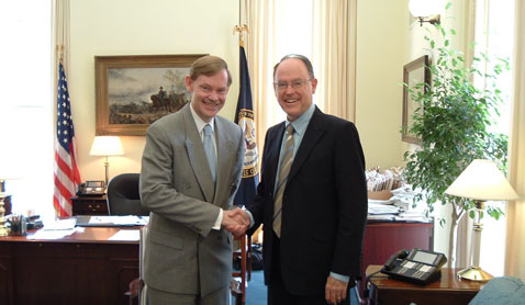 Meeting Robert Zoellick, then US Trade Representative and now President of the World Bank, in Washington